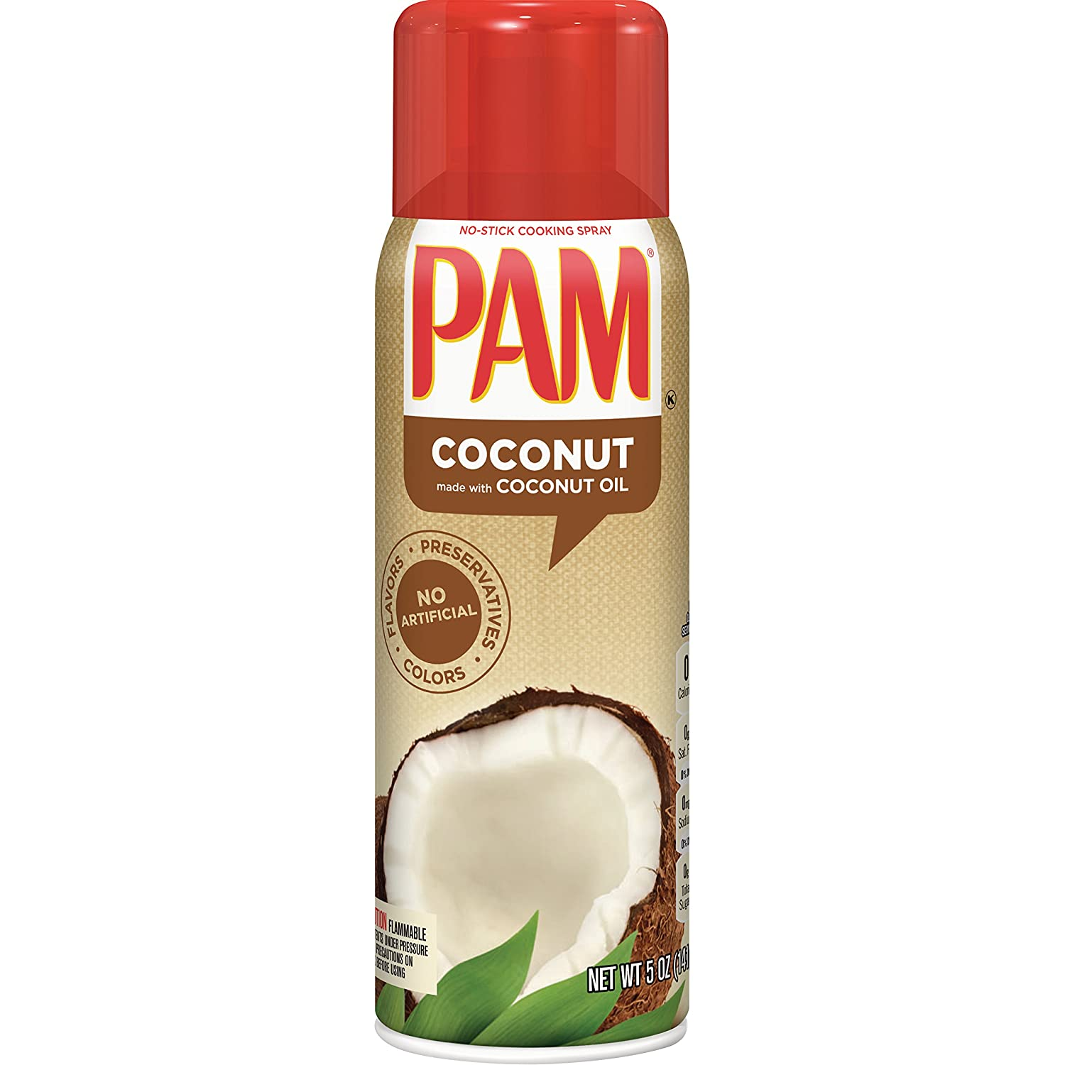 Amazon.com : PAM Coconut Oil Cooking Spray, 5 oz : Grocery & Gourmet ...