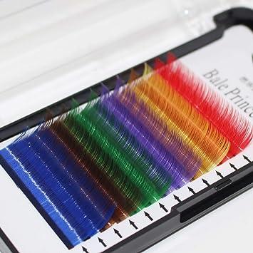 5d93e6b5065 Amazon.com : Scala 12 Lines 7 Colors Mixed One Tray False Eyelashes  Individual Eyelash Extension Eye Lashes Individual Eyelash Extension  Rainbow Colored ...