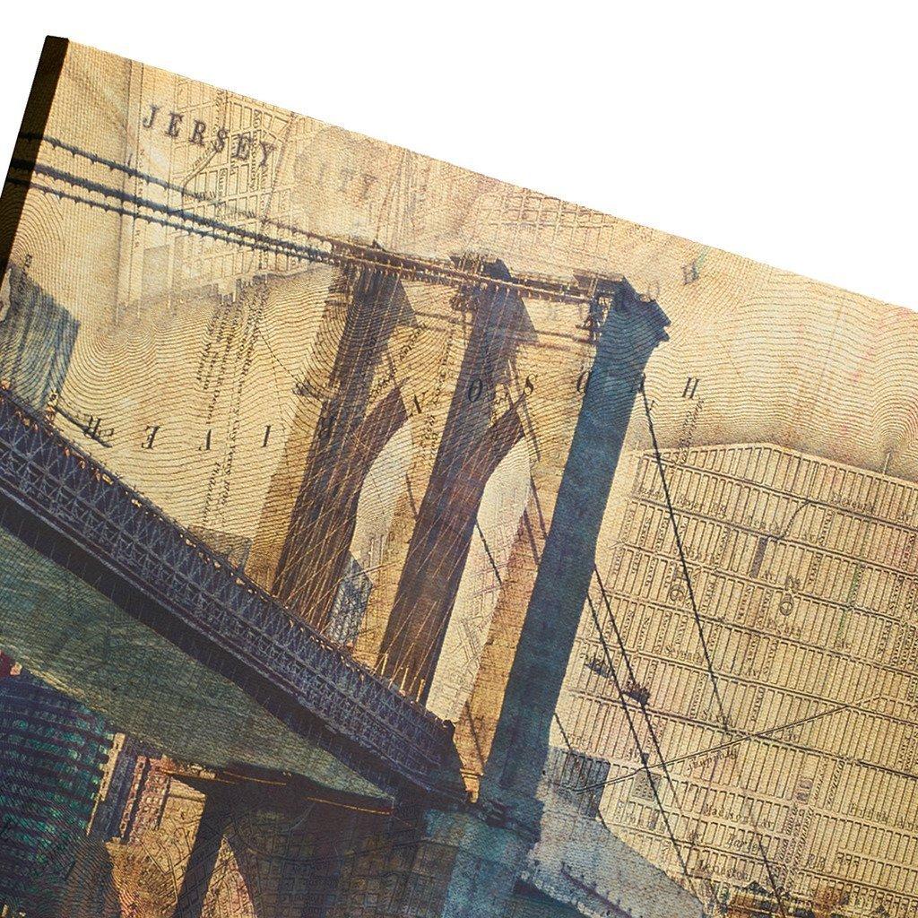 Amazon.com: Decor MI Vintage Brooklyn Bridge Wall Art Poster New ...