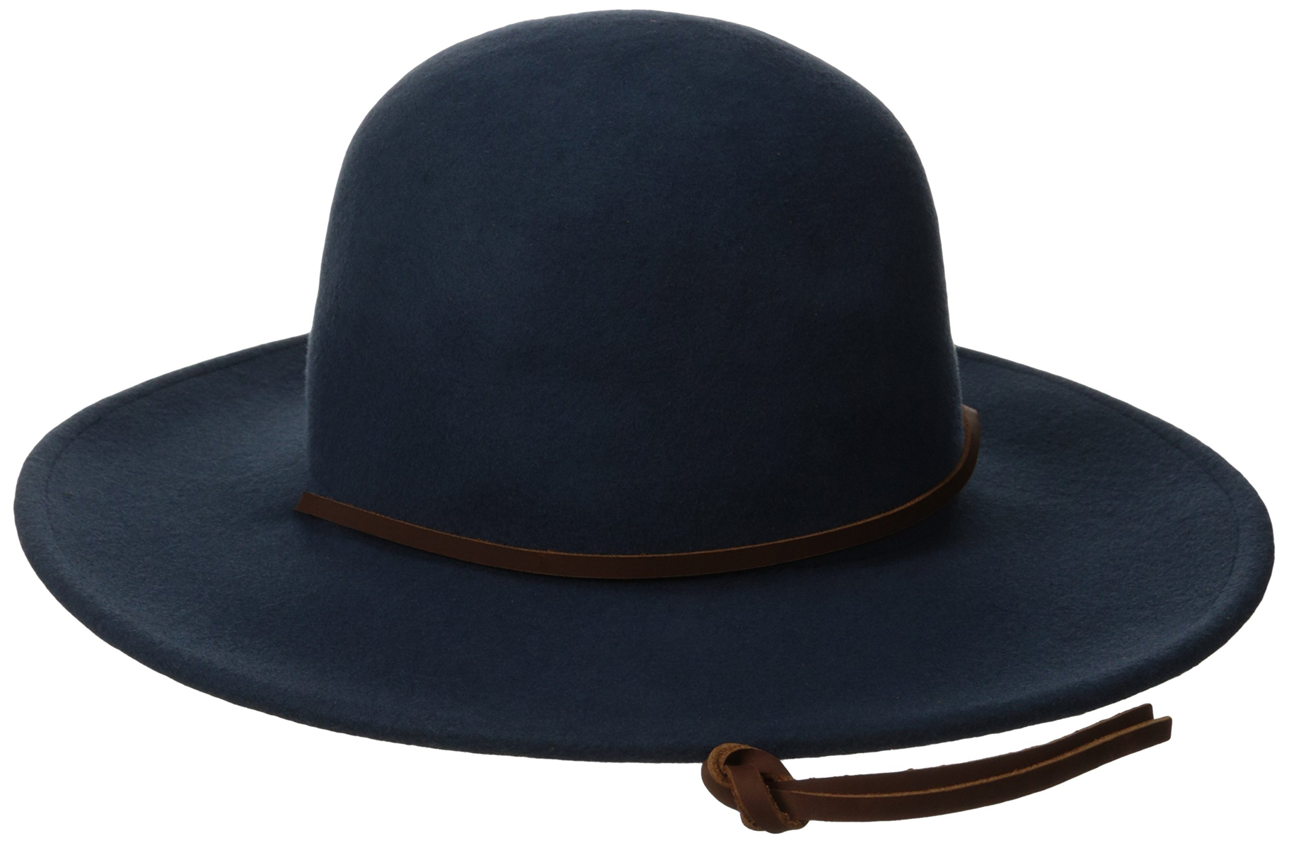 6c6cb5bcdf912 Galleon - Brixton Men s Tiller Wide Brim Felt Fedora Hat