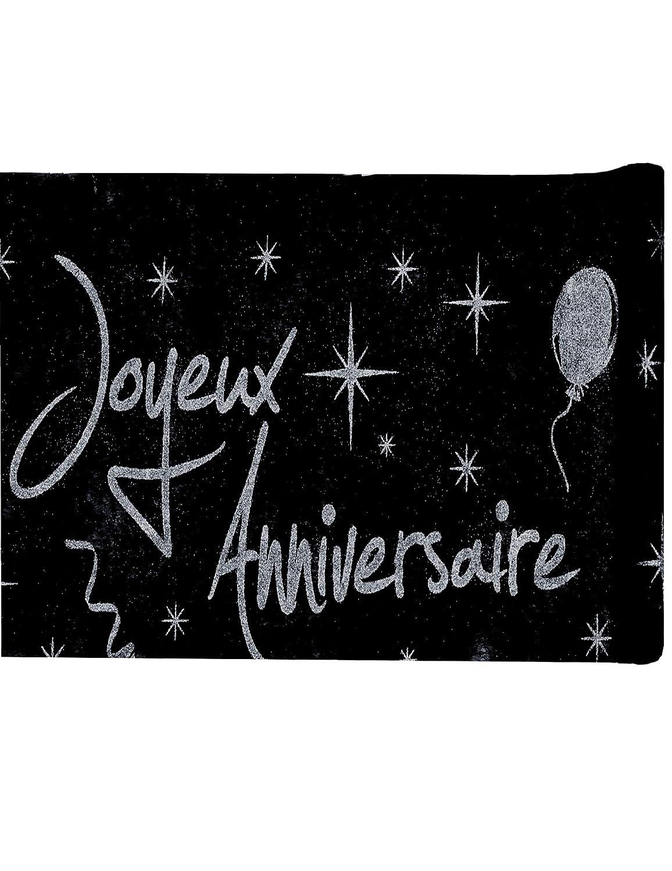 Santex 4701 - 4-30, camino de mesa cumpleaños feliz, negro ...