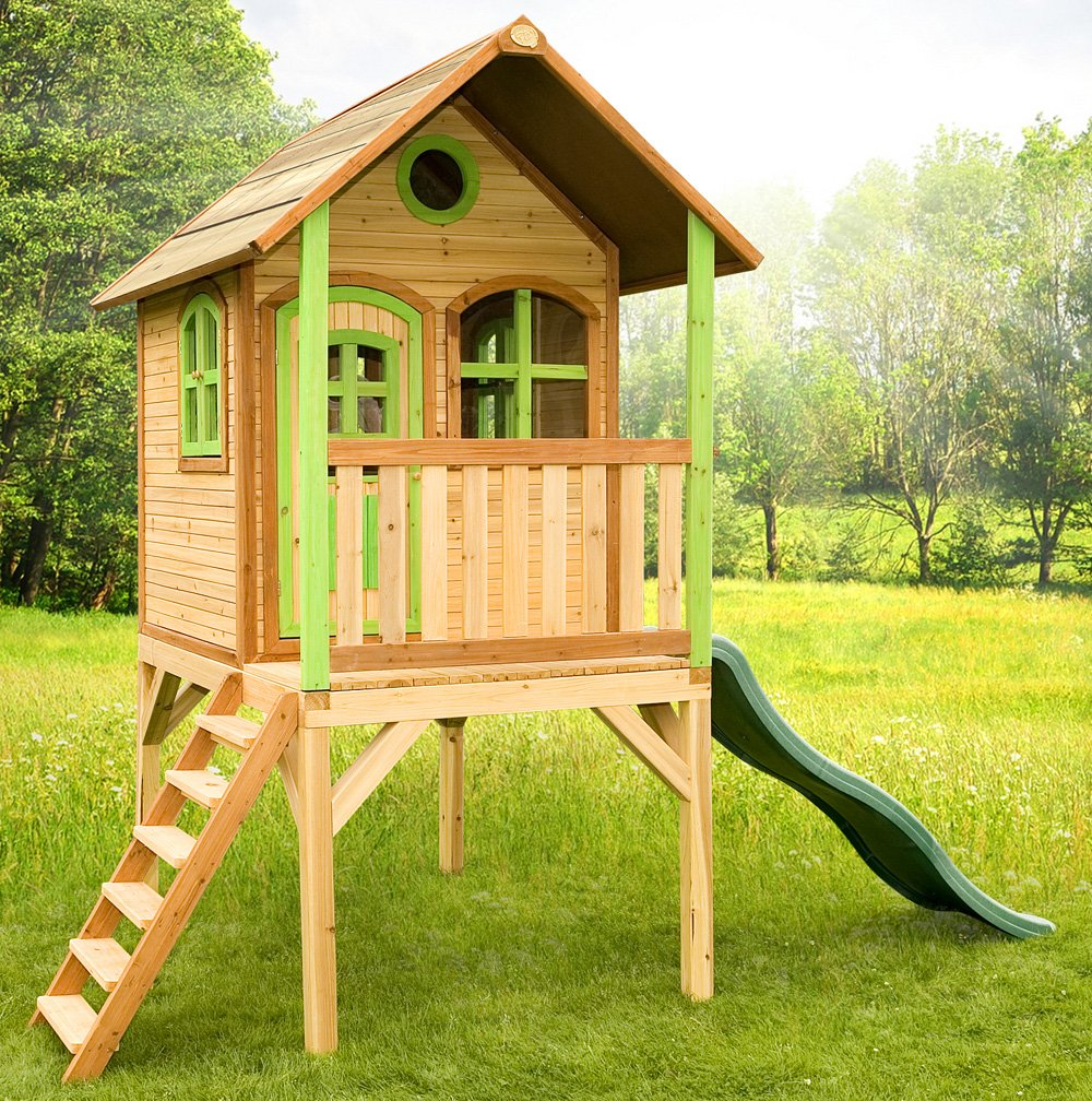 Axi Kinder Spielhaus Laura mit Terrasse - Stelzenhaus hoch