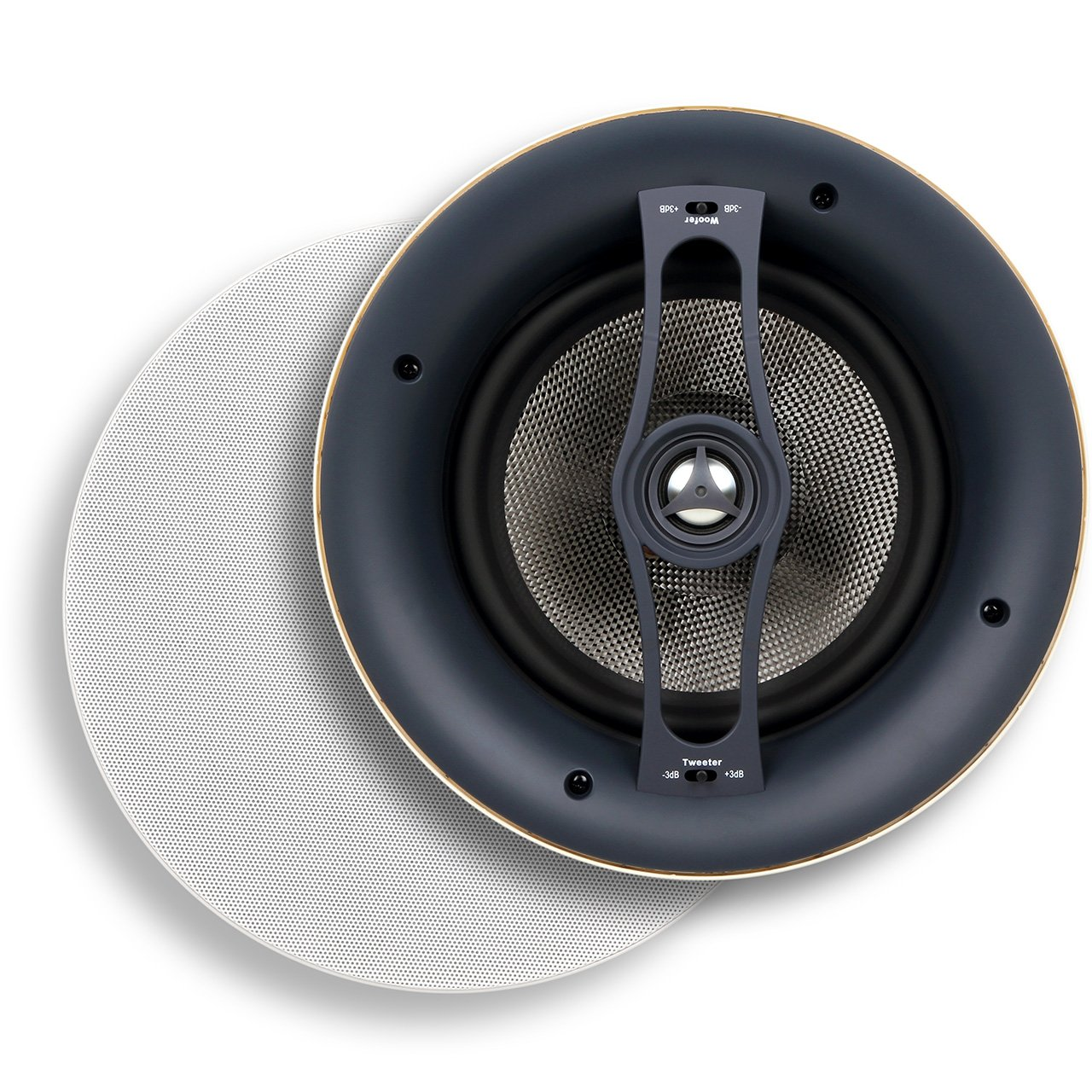 Micca Reference Series R-8C 8-Inch Rimless In-Ceiling Speaker (Each, White)