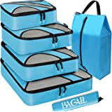 Bagail 6 Set Packing Cubes,Travel Luggage Packing Organizers with Laundry Bag Blue