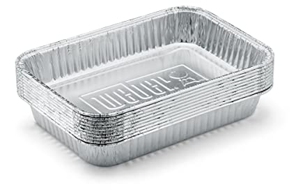 amazon com weber 6415 small 7 1 2 inch by 5 inch aluminum drip pans