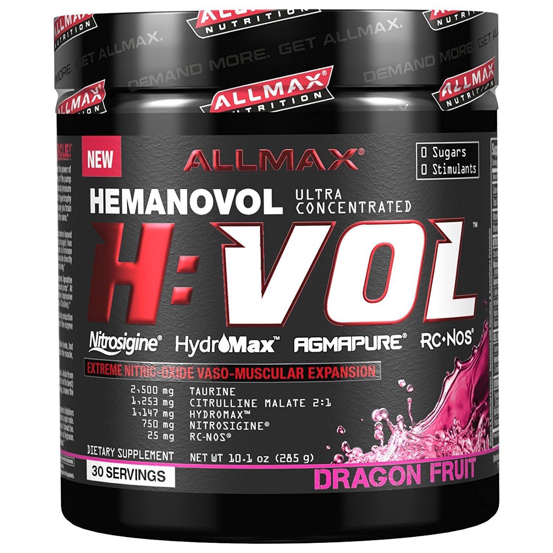 ALLMAX Nutrition HVOL Powder, Non-Stimulant Pre-Workout, Dragon Fruit, 285g by ALLMAX Nutrition