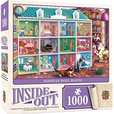MasterPieces Inside Out Jigsaw Puzzle, Sophia's Dollhouse, Featuring Art by Eduard, 1000 Pieces: Toys & Games