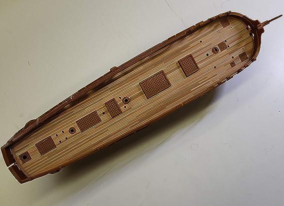 Amazon.com: Premium cubierta de madera para 1/87 HMS Bounty ...