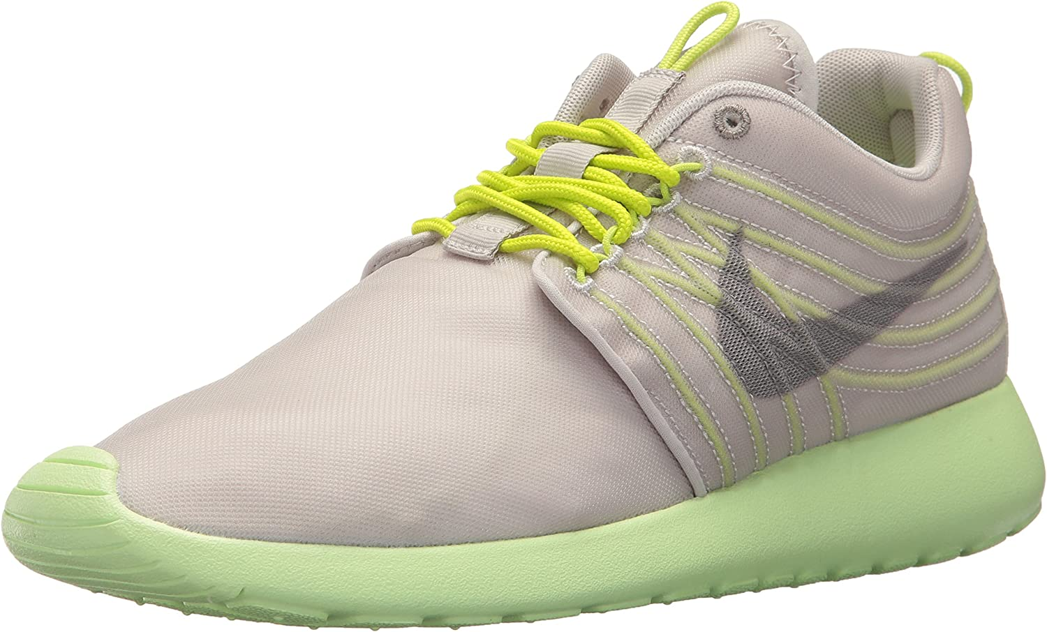NIKE Roshe Dynamic Flywire Color Gamma Grey Light Charcoal Cyber Barely Volt 580579-037