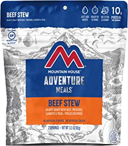 Mountain House Beef Stew | Freeze Dried Backpacking & Camping Food | Survival & Emergency Food | Gluten-Free