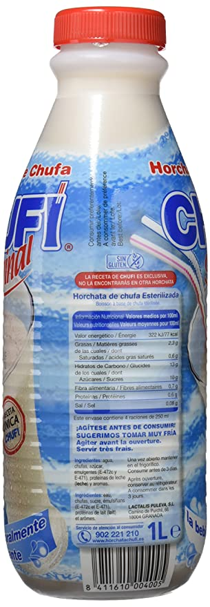 Chufi Horchata de Chufa de Valencia refresco - 1 L: Amazon ...