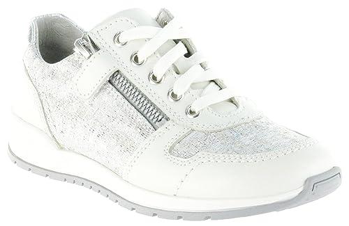Richter Kinder Halbschuhe Sneaker weiß Leder Mädchen Schuhe