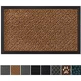 GRIP MASTER Durable All-Natural Tough Rubber Doormats, 29x17 Size, Waterproof Boots Scraper Mats, Heavy Duty Indoor Outdoor D