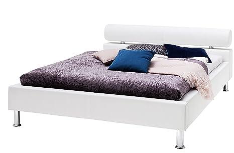 Sette Notti Polsterbett Bett 120x200 Weiss Kunstleder Bett Liegeflache 120x200 Cm Anello Art Nr 332 10 20000
