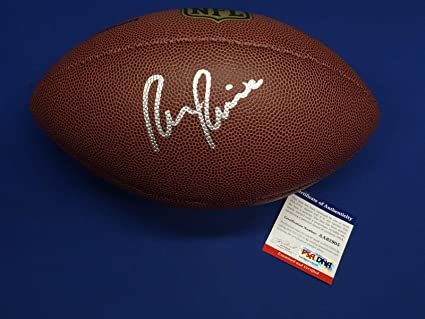 c3945462a3f Signed Ron Rivera Football - * AA62905 - PSA/DNA Certified ...