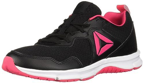Reebok Women s Express Runner 2.0 Running Shoe Black Twisted Pink White 7 B( 20f2c6f87