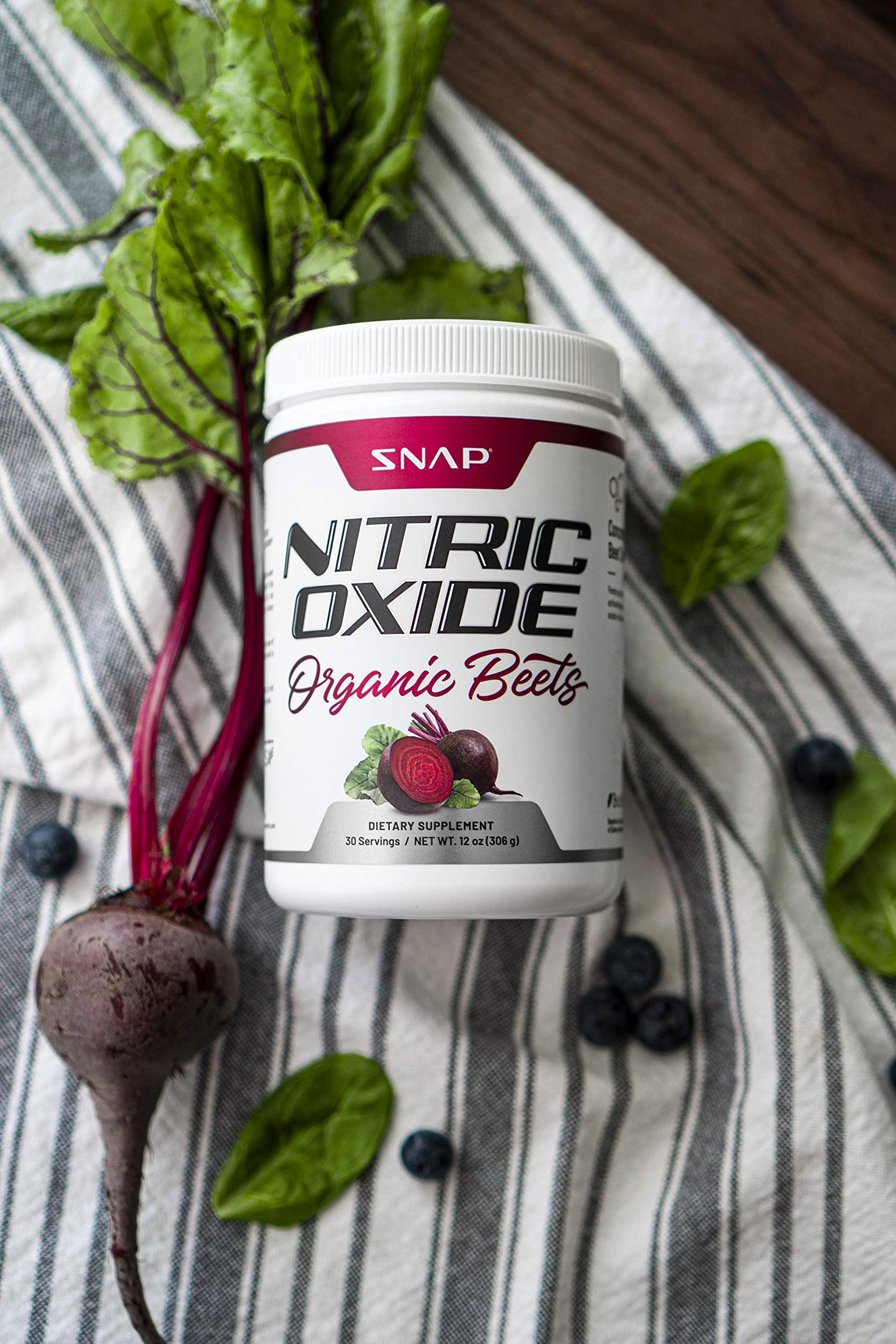 Beet Juice Powder (Organic) Nitric Oxide by Snap Supplements - Blood Flow and Circulation Superfood, Muscle & Heart Health - BCAAs. L Arginine, L Citrulline - 306 Grams! by Snap Supplements (Image #5)