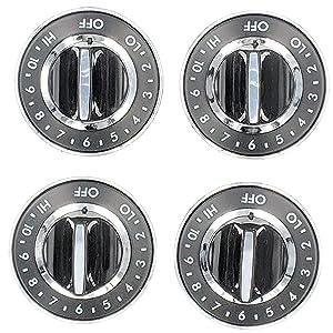 Supplying Demand Y700854 Range Knob Set 4 Pack Fits AP6024212 PS11757562