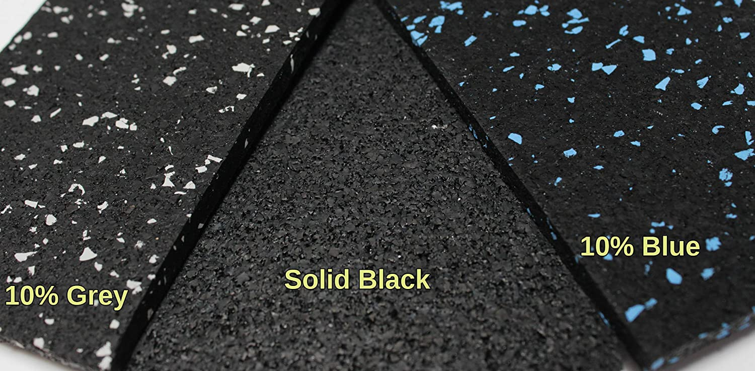 Made in USA Protective Exercise Rubber Flooring 7mm American Floor Mats 1//4in Thick Solid Black 4 x 6 Heavy Duty Rubber Rolls Quick Ship 2 MAT Pack