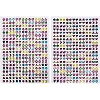 IKWOLETI Plak oorbellen voor meisjes 3D Gem Stickers Glitter Sparkle Zelfklevende Ambachtelijke kristallen stickers (10…