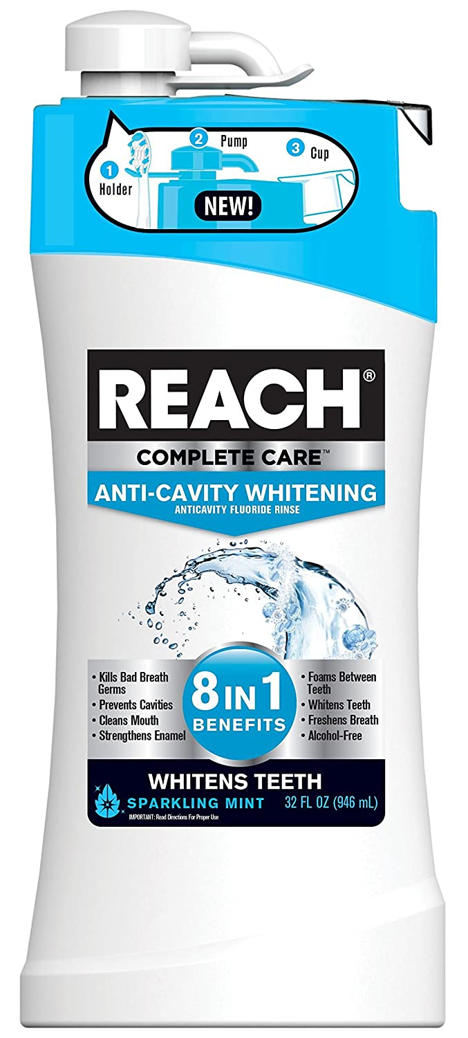 Reach Complete Care 8-In-1 Plus Whitening Mouth Rinse, 32 Fl. Oz./946 mL, Pack of 4 Dr. Fresh 516206-4