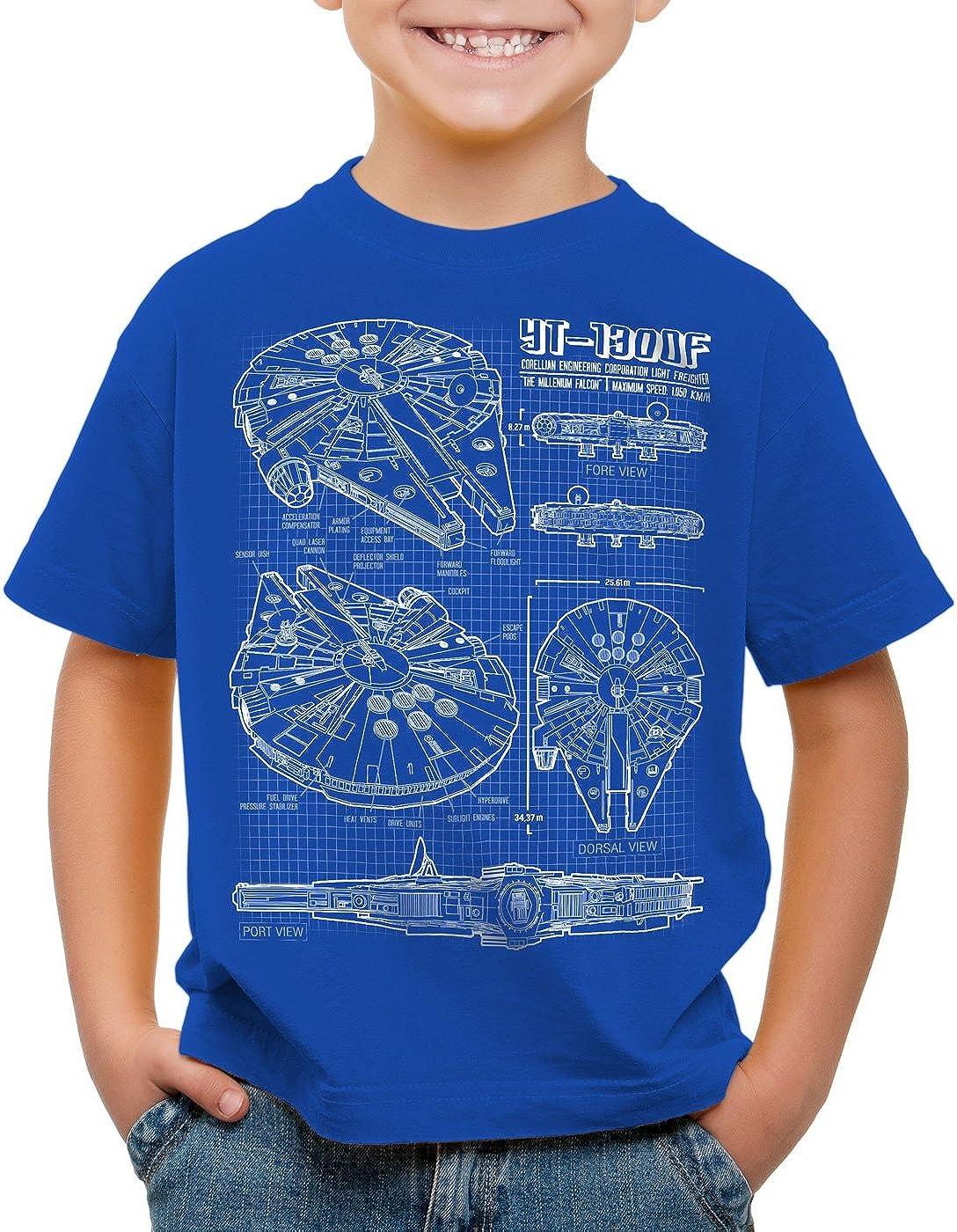 style3 Faucon Millenium T-Shirt pour Enfants Solo Han corellienne