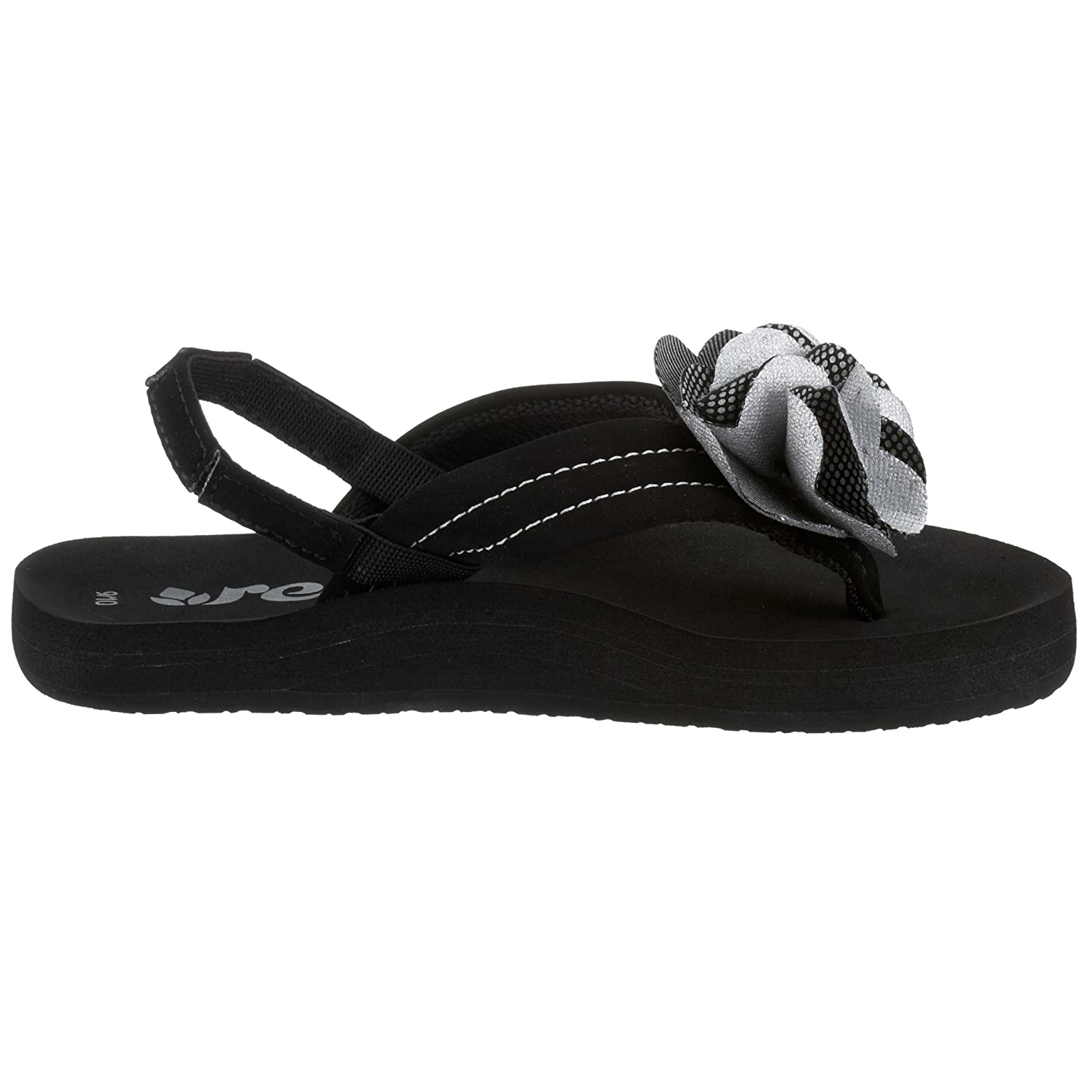 36d068d1d Reef Baby Girls BABY BLOOM BLACK SILVER 9SR2129-BLS-19 20 2.5 Child UK   Amazon.co.uk  Shoes   Bags