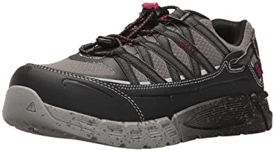 Keen Utility Women's Asheville AT ESD Industrial and Construction Shoe,  Black/Gargoyle, 5