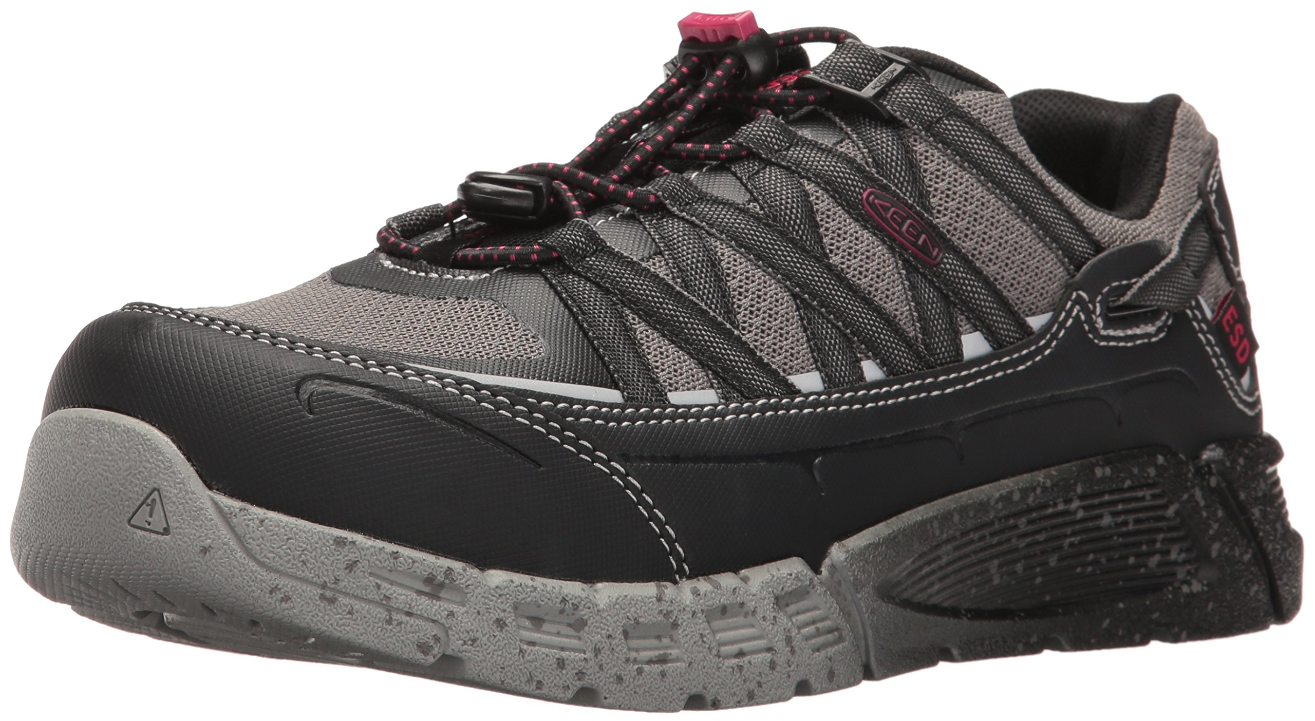 KEEN Utility Women's Asheville at ESD Industrial and Construction Shoe, Black/Gargoyle, 8 M US