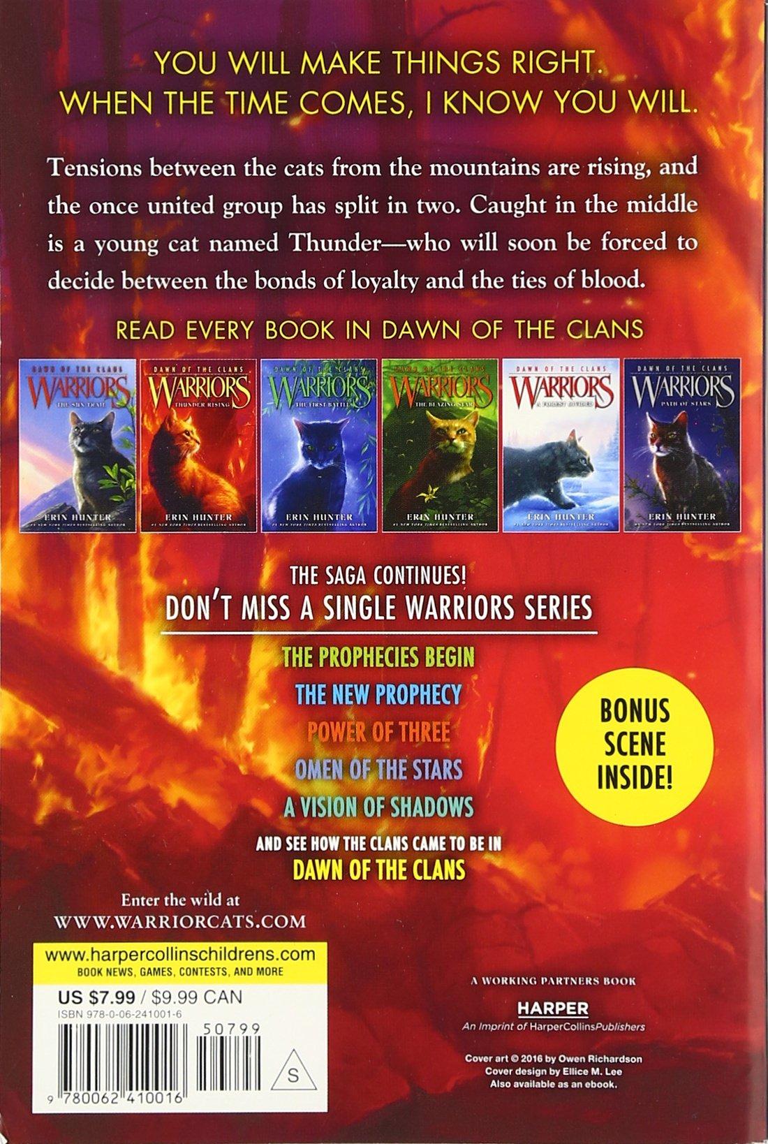 Warriors: Dawn Of The Clans #2: Thunder Rising: Erin Hunter, Wayne  Mcloughlin, Allen Douglas: 9780062410016: Amazon: Books