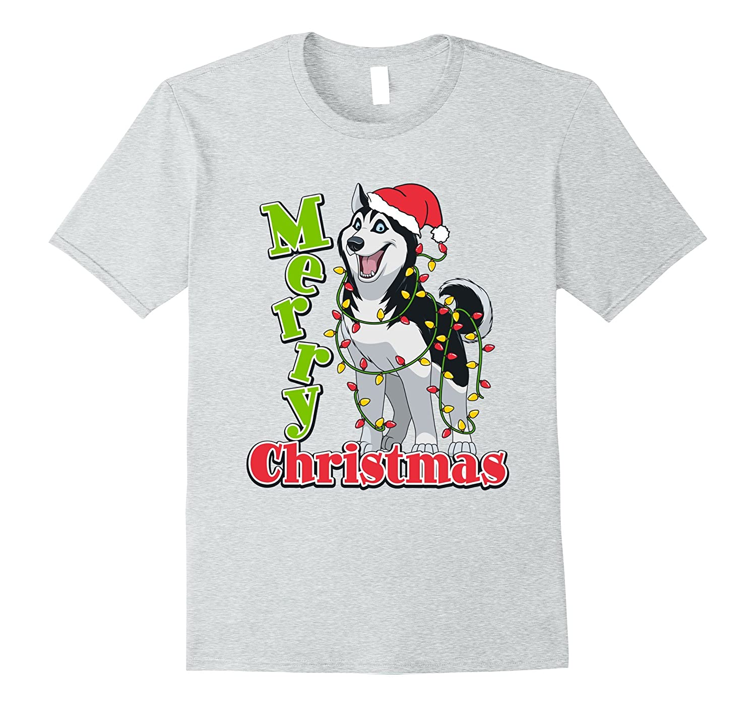 husky christmas t shirt cute gifts dog lovers anz