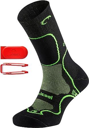 Herren /& Damen Lurbel Logan Premium Wandersocken//Trekkingsocken antibakteriell f/ür hohe Schuhe mit Schienbeinpolsterung