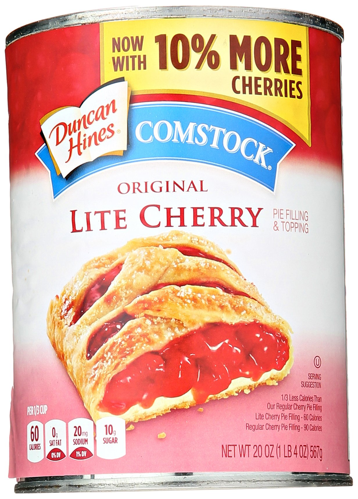 Comstock Lite Cherry Pie Filling - 20 oz