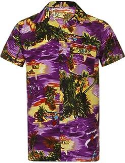 eaad0377 Hawaiian Shirt Mens Loud Aloha Hawaii Holiday Beach Stag Palm Tree Summer  Party Caribbean Short Sleeve