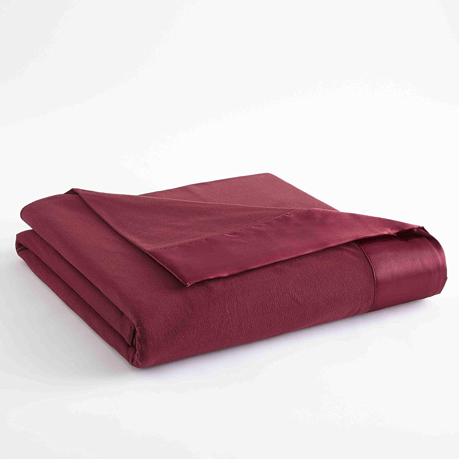 Shavel Home Products Micro Flannel Solid Sheet Set, Queen, Wine