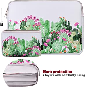 13 Inch Laptop Sleeve Bag MacBook Air 13 Inch Sleeve MacBook Pro 13 Inch Protective Neoprene Sleeve Laptop Sleeve 13 Inch Electronics Accessories Organzier Bag Carry Case Pouch (Cactus Flower)