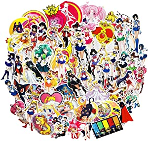 Sailor Moon Anime Girl Stickers(75pcs) Snowboard Laptop Luggage Car Motorcycle Bicycle Fridge DIY Styling Vinyl Home Décor