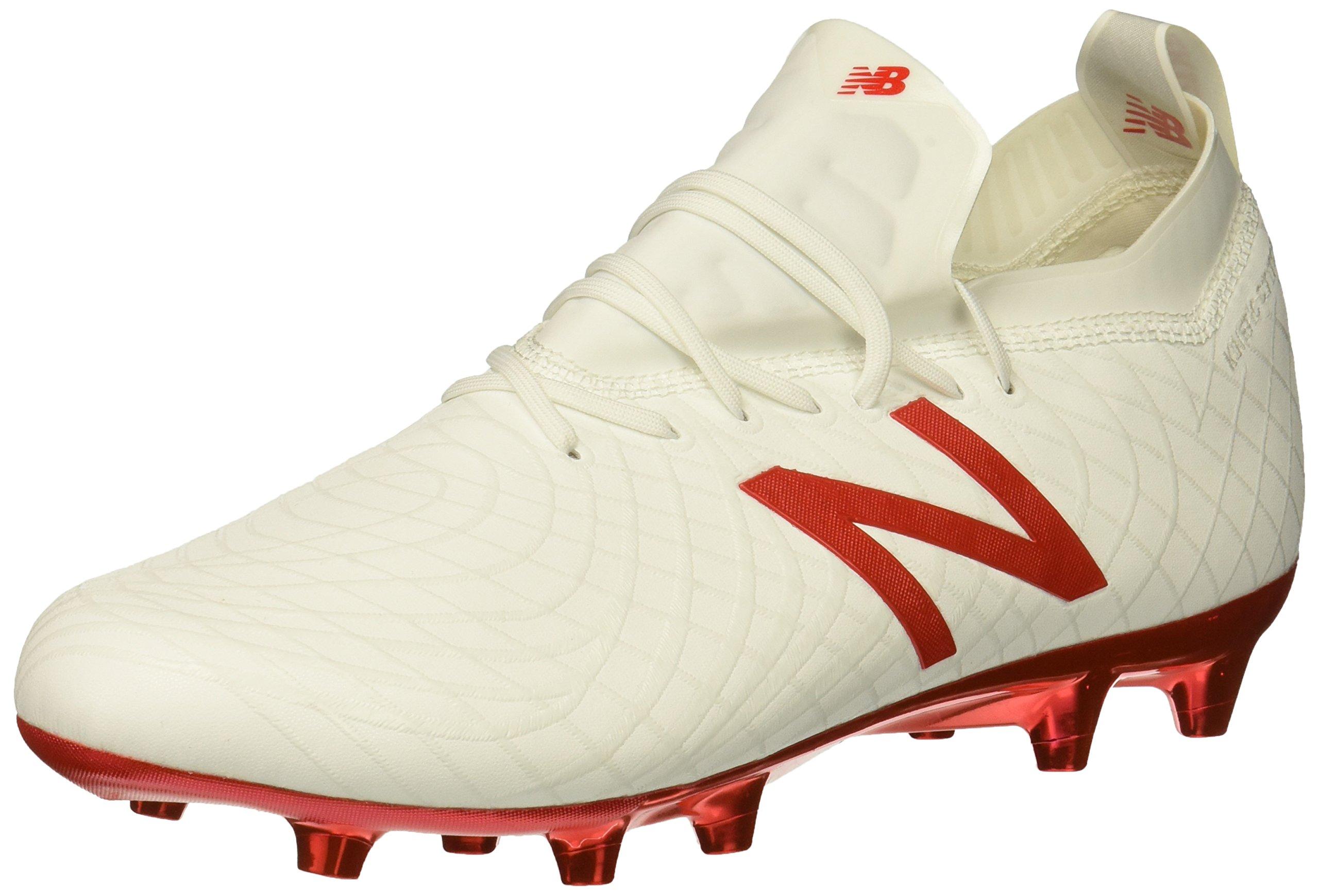 New Balance Men's Tekela 1.0 Pro FG Soccer Shoe, White/Flame Orange, 7.5 2E US