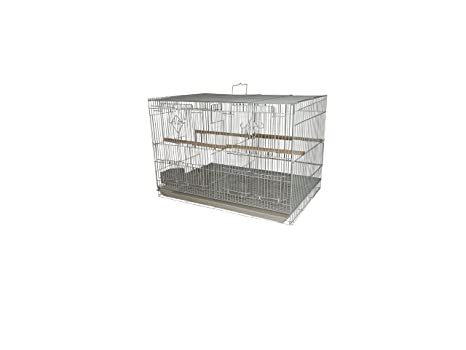 Periquito jaula wkf02 60 x 42 x 41 cm con separador.: Amazon.es ...