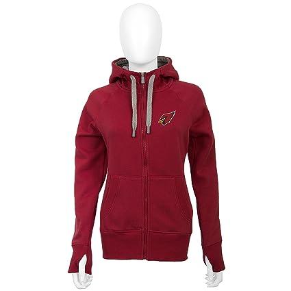 3214ace3 Amazon.com : Arizona Cardinals Women's Red Victory Zip-Up Hooded ...