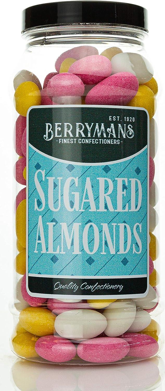 Berrymans (Est. 1920) Original Sugared Almonds. Retro Gift Jar