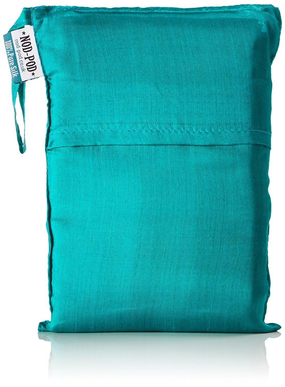 Nod-Pod Saco de dormir de seda 100% de seda natural - Sábanas para sacos de dormir - Turquesa: Amazon.es: Deportes y aire libre