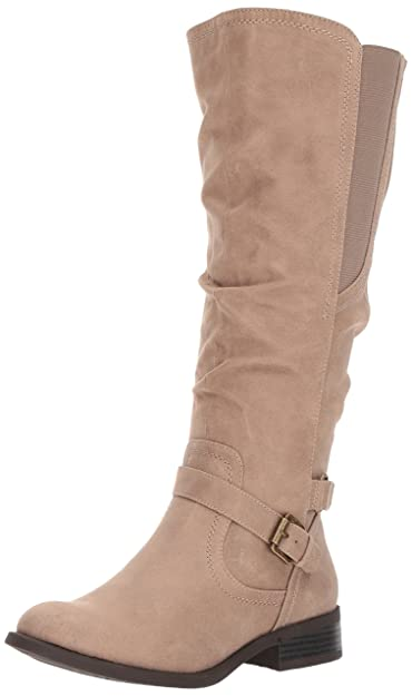 White Mountain Women's Lyle Knee High Boot, Taupe, ...
