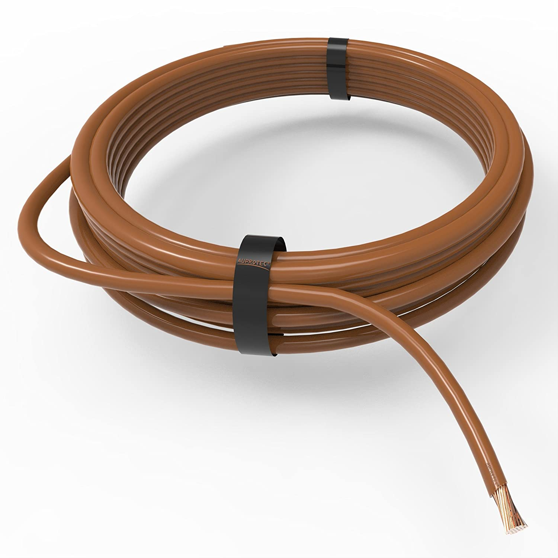 Fahrzeugleitung 0,50 mm² FLRY-B als Ring 5m gelb//grau Kabel Litze Strom KFZ