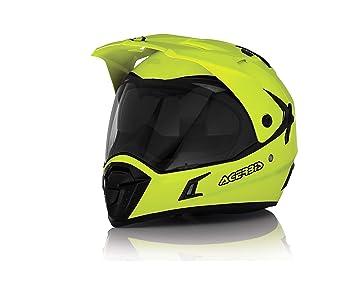 Acerbis - Casco para moto, Motocross Enduro Atv Cuatri XL GIALLO FLUO - YELLOW FLUO