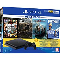 PlayStation 4 Mega Paket 2019, 500GB (GTA V + Days Gone + God of War)