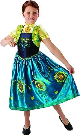 Frozen - Disfraz de princesa Anna para niña, infantil talla 5-6 ...