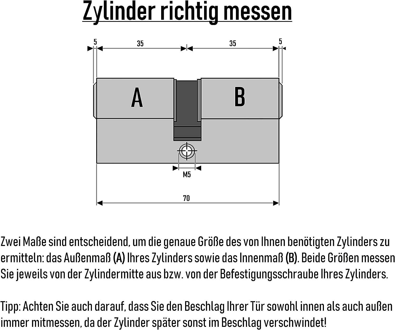 Halbzylinder 30//10 mm Schlie/ßanlage nach Wunsch kombinierbar