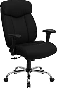 Flash Furniture HERCULES Series Big & Tall 400 lb. Rated Black Fabric Executive Ergonomic Office Chair with Full Headrest and Arms