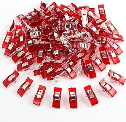 ConPush 100 STK Bunt Wonder Clips N/ähklammern Stoffklammern N/ähzubeh/ör N/ähen N/ähclips